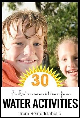 Activités d'été pour les enfants en rénovation