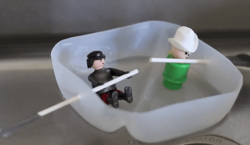 how to make a milk just white water raft from PBS Parents feautured on Remodelaholic
