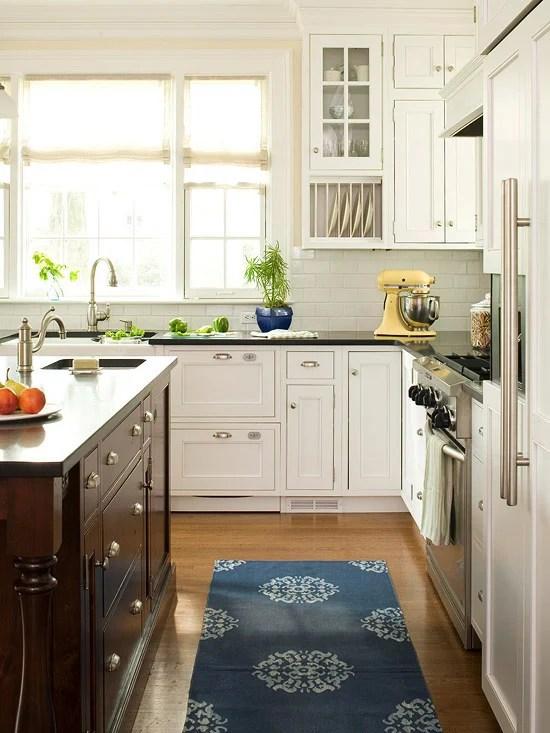 two-tone U shaped kitchen via DecorPad