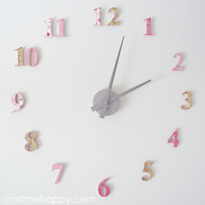 wall number clock