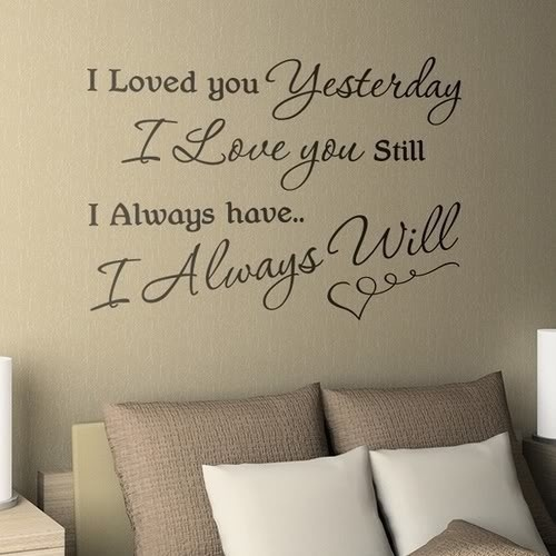word-decals-above-bed-pinterest