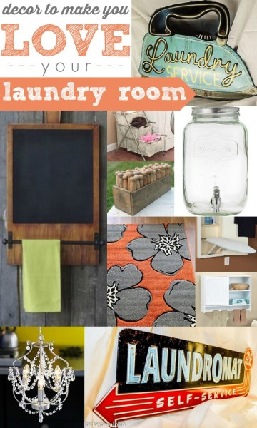 Decor to Make You LOVE Your Laundry Room by Remodelaholic