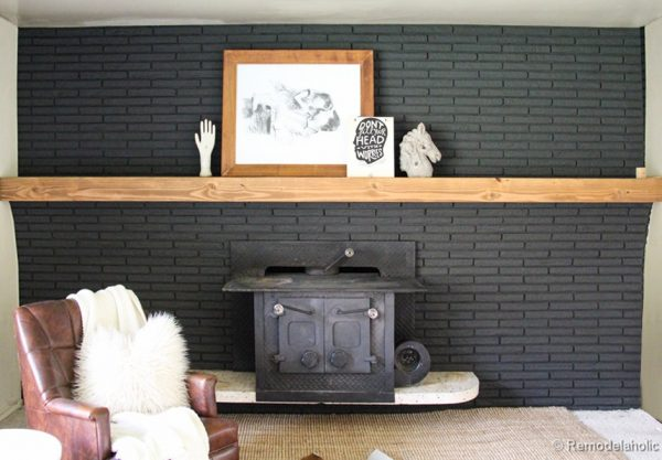 How to make a simple wood mantel @remodelaholic #DIY #mantel (12 of 34)