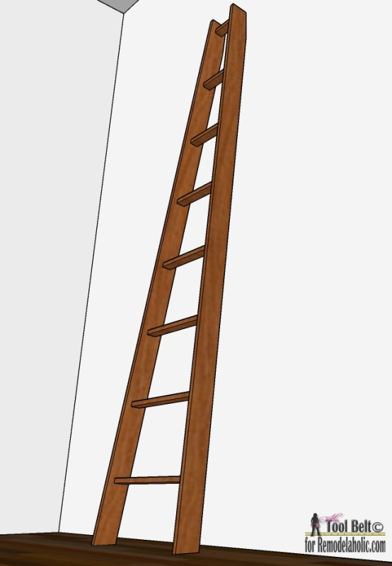 Build this DIY decorative orchard ladder for ~$7, plans on Remodelaholic.com