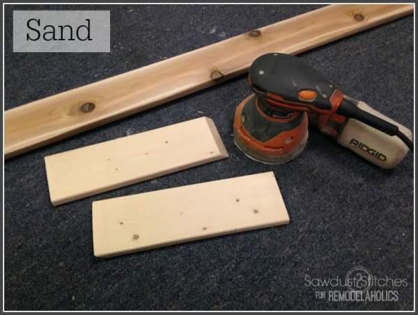 Sanding Boards for Ikea Lack Shelf Hack