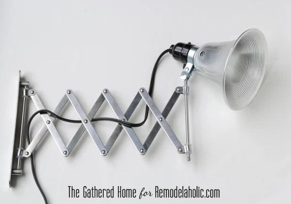 diy accordion lamp ikea frack mirror - Remodelaholic DIY Accordion Wall Lamps From $5 Ikea Mirrors