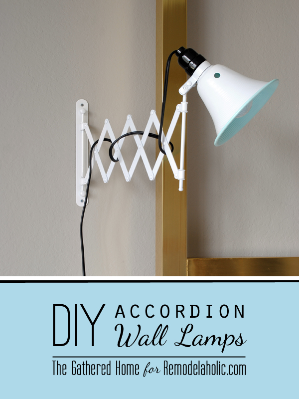 DIY Accordion Wall Lamps From $5 Ikea Mirrors By The Gathered Home For  Remodelaholic.com