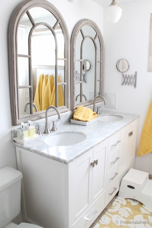 single sink vanity to double sink