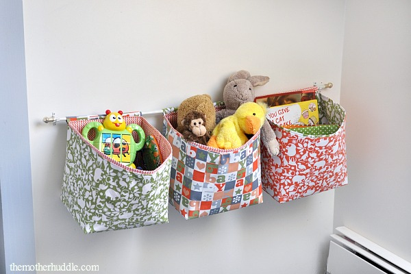 fabric hanging storage baskets for toys, The Mother Huddle