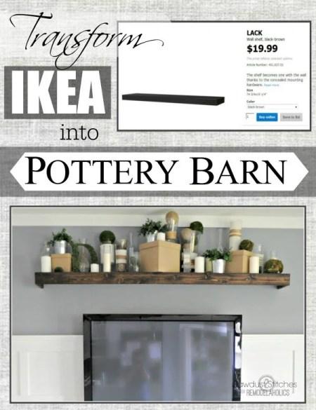 Ikea Hack: Customizing a floating Lack shelfI