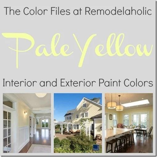 pale yellow paint colors