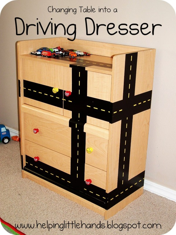 toy car storage and driving dresser, via Remodelaholic