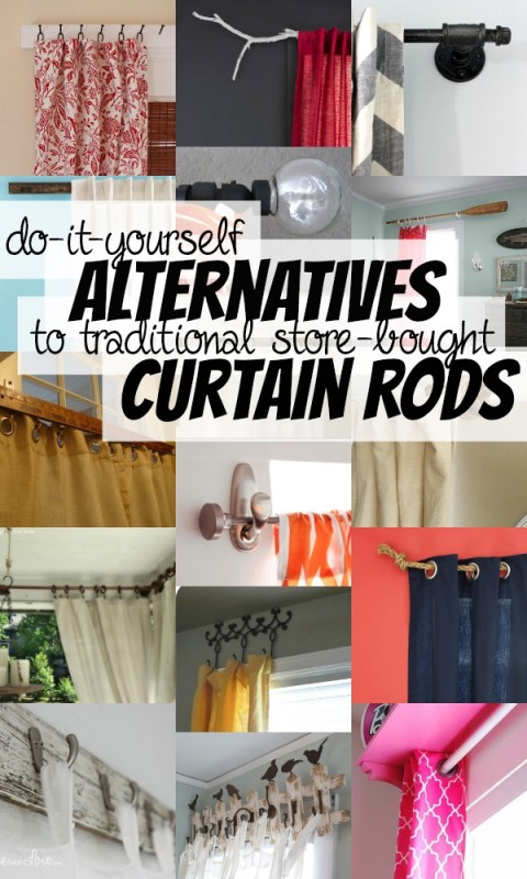 DIY Curtain Rods on Remodelaholic.com #AllThingsWindows #curtains #budgetfriendly