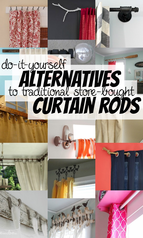 DIY Curtain Rods On Remodelaholic AllThingsWindows Curtains Budgetfriendly