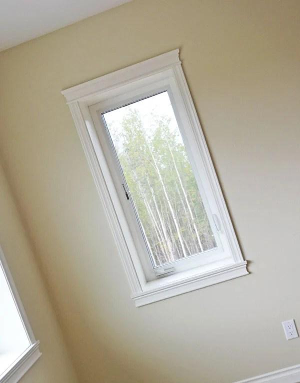 Ana White easiest way to trim windows via Remodelaholic