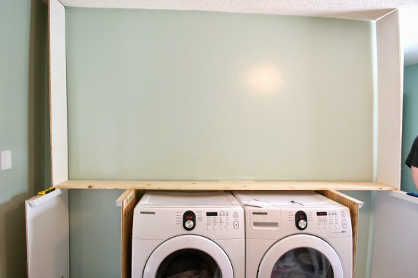 Building the laundry unit 02, Seesaws and Sawhorses on Remodelaholic