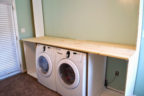 Building the laundry unit 03, Seesaws and Sawhorses on Remodelaholic
