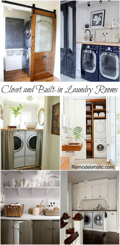 Closet and built in Laundry Room Ideas #laundry #home #design @remodelaholic