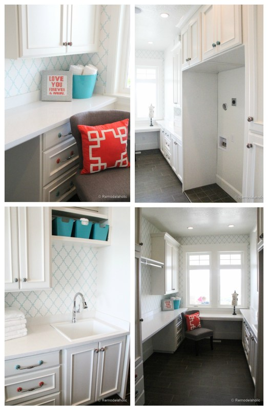 Double Laundry and Crafting Room idea featured on Remodelaholic.com