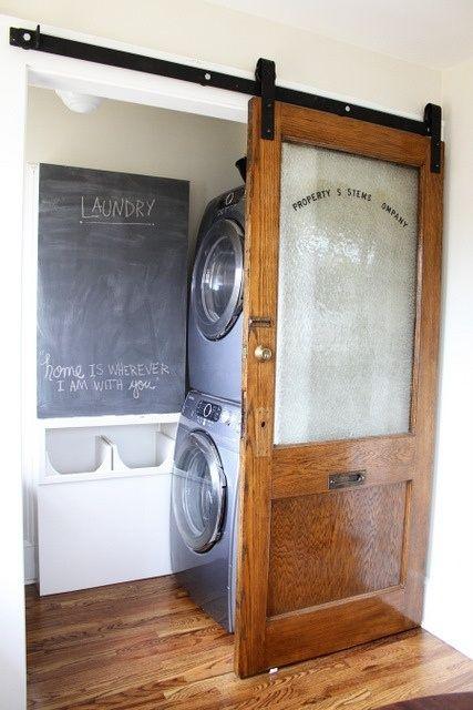 Great hidden laundry room