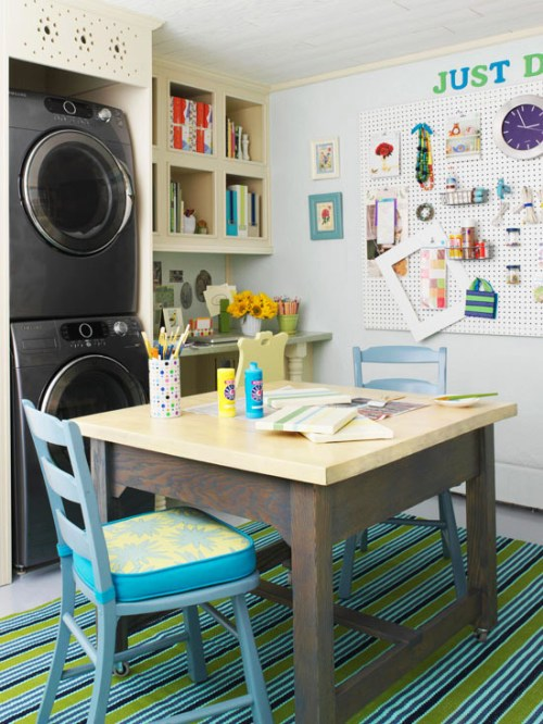 Hobby room and laundry room