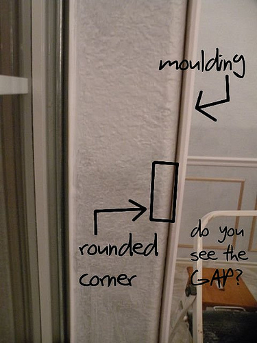 House of Hepworths - how to trim a rounded corner via @Remodelaholic