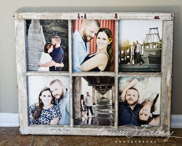Laura Haley Photography - old paned window as photo frame - via Remodelaholic