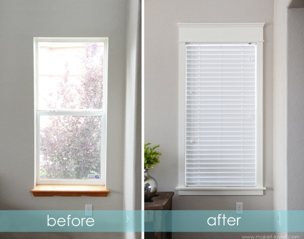 Make It and Love It how to trim a window and replace the sill via Remodelaholic