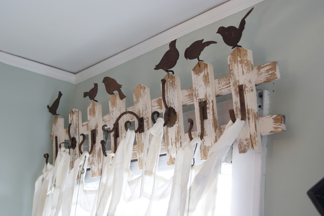 Nest Full Of Eggs Coat Rack Old Fence With Hooks As Curtain Rod Via Remodelaholic