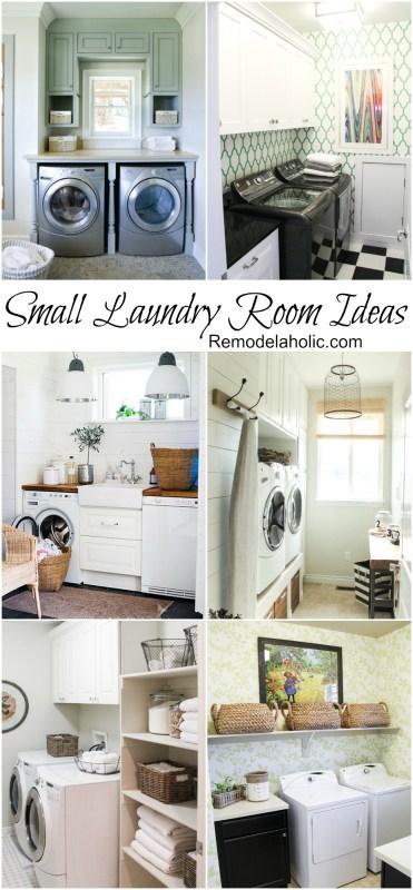 Idées de buanderie petites mais élégantes @remodelaholic #laundry #design #small