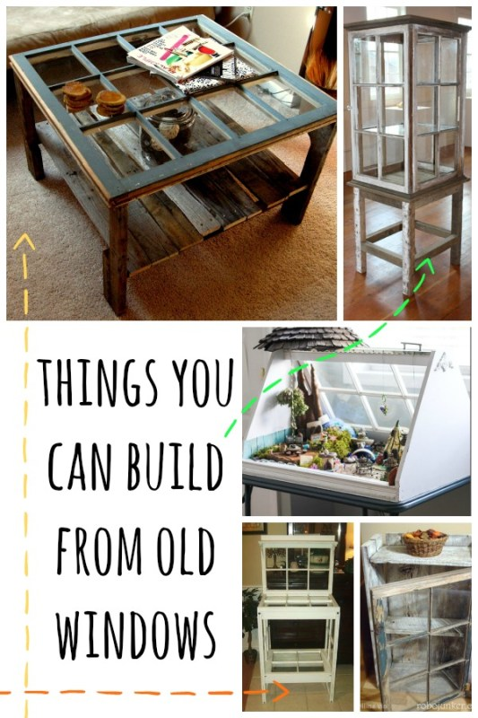 Things You Can Build From Old Windows via Remodelaholic