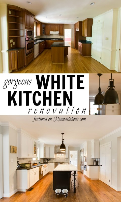 White Kitchen Renovation on Remodelaholic
