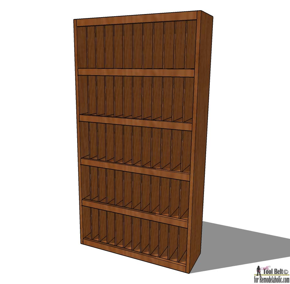 Free Project Plans To Build A Rustic Divided Bookcase On Remodelaholic