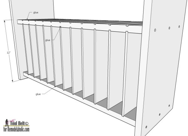 Free project plans to build a rustic divided bookcase on Remodelaholic.com