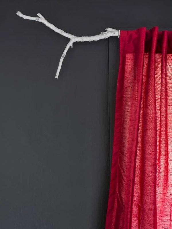 branch curtain rod HGTV via Remodelaholic