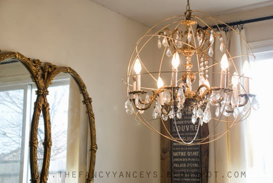 crystal orb chandelier diy, Vintage Romance Style featured on Remodelaholic