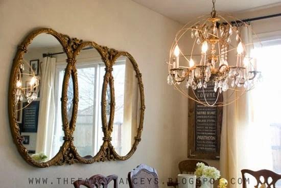 diy tutorial for restoration hardware crystal orb chandelier, Vintage Romance Style featured on Remodelaholic