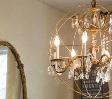Remodelaholic chandelier diy crystal orb chandelier knockoff aloadofball Image collections