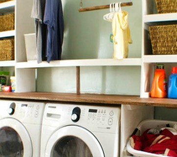 Built-in Laundry Unit with Shelving