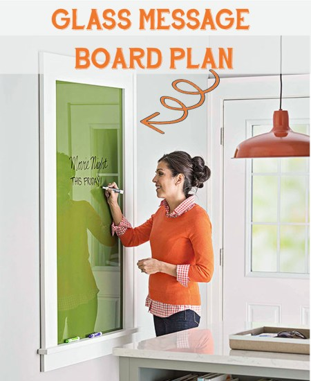glass message board frame plan