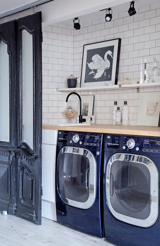 great hall laundry room with big style! Beautiful idea featured on Remodelaholic.com