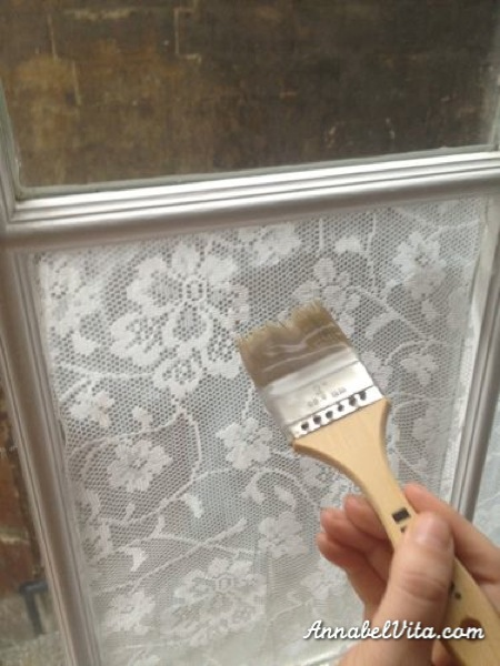 how to apply lace to windows for privacy, Annabel Vita on Remodelaholic
