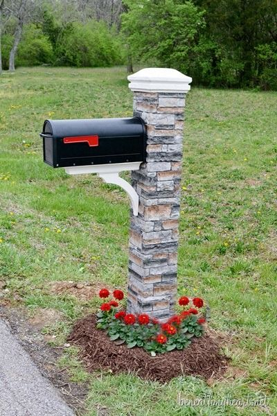 faux rock mailbox stand for increased curb appeal Remodelaholic