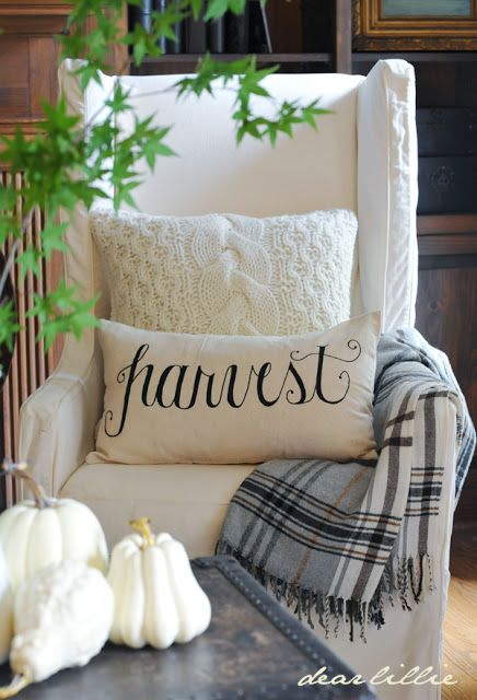 plaid throw for fall decor