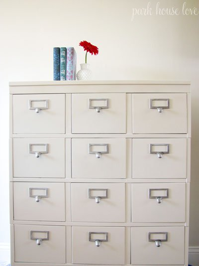 refinished filing cabinet