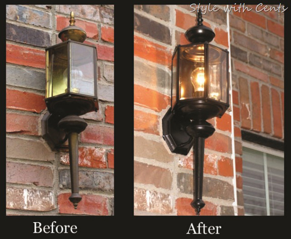 upgrade current porch lighting for increased curb appeal. Remodelaholic