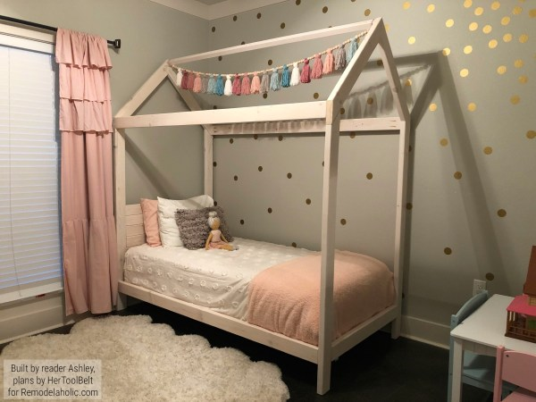 DIY House Bed Frame On Remodelaholic