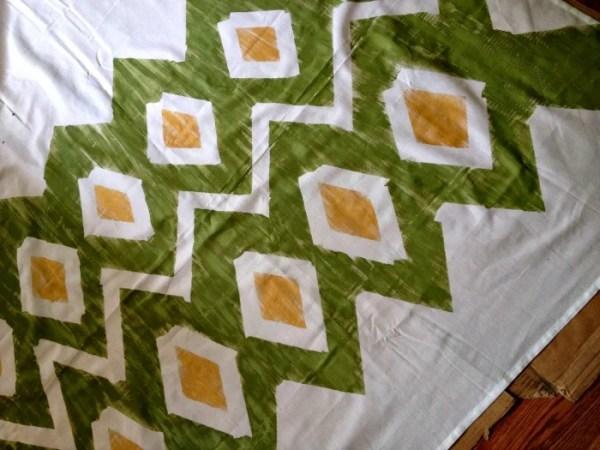 Houseologie - diy painted ikat curtains - via Remodelaholic