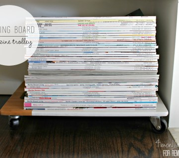 DIY Magazine Trolley