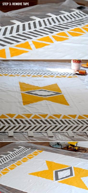 Love Creative - geometric native inspired curtains - via Remodelaholic